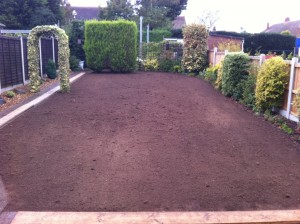 Prepared Area For Turf Laying