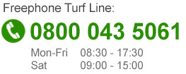 Call our turf phoneline